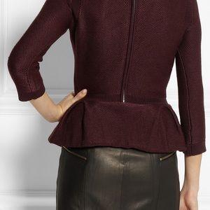 New Burberry London Burgundy peplum sweater top